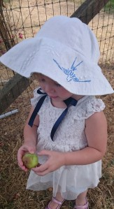 Blue swallow sun hat, Anna