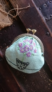 Flower pot coin purse