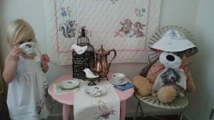 Pretend tea party, yummy tea