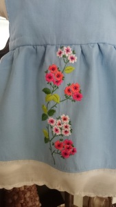 Blue Floral Apron Dress, apron