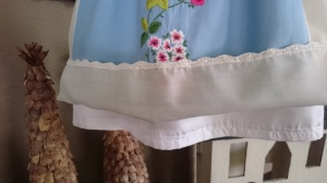 Blue Floral Apron Dress, lining