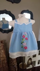 Blue Floral Apron Dress