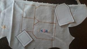 Pretend tea bag tutorial, trace pattern