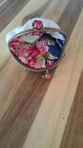 Red Umbrella coin purse, lining