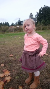 Merlot tweed swingset skirt, 1