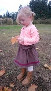 Merlot tweed swingset skirt, 2