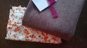 Merlot tweed swingset skirt, before