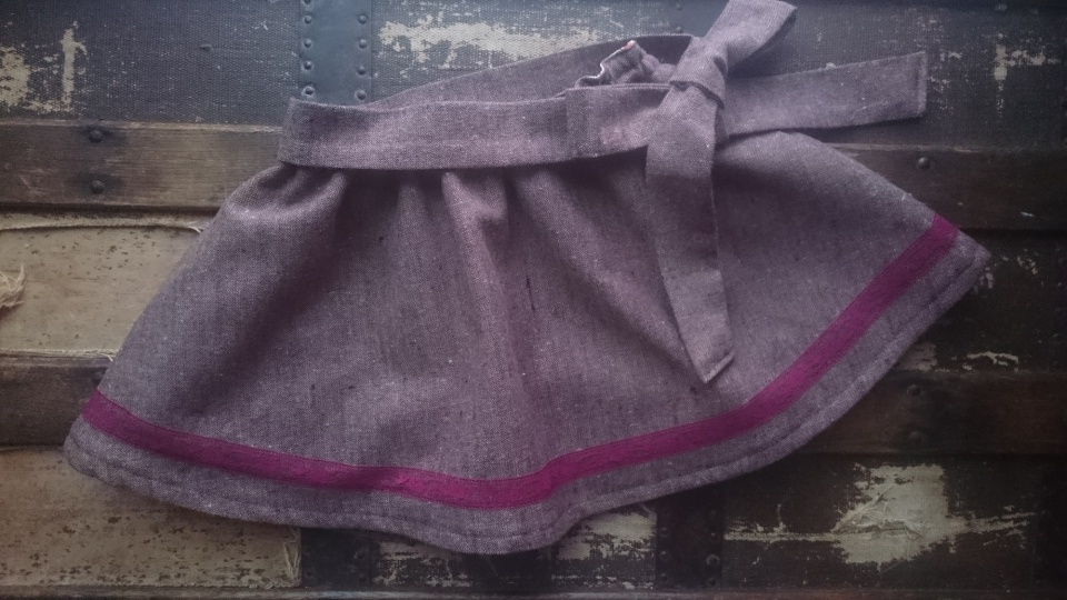 Merlot tweed swingset skirt