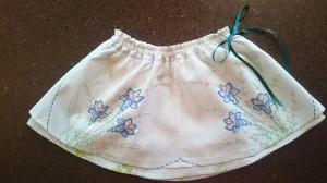 Vintage tablecloth swingset skirt