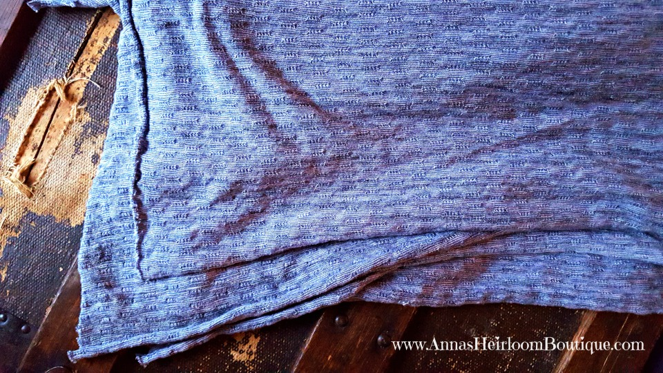 Blue sweater knit