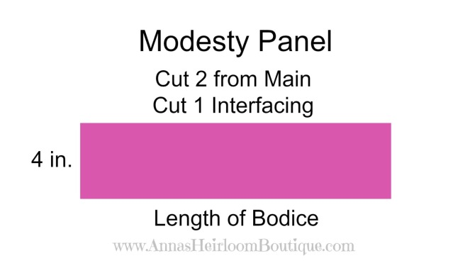 Faux Corset, Modesty panel piece