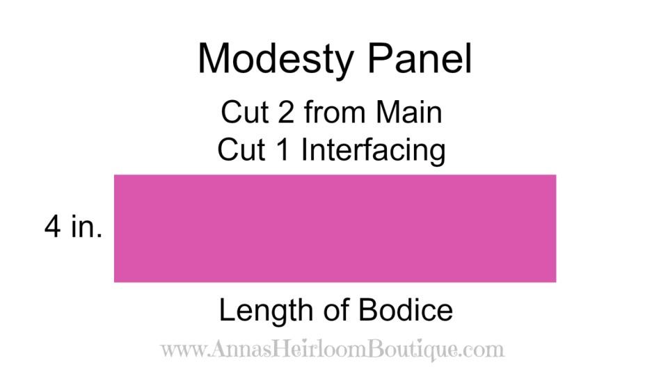 Faux Corset, Modesty panel piece